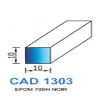 CAD1303N Profil EPDM   70 SH Noir