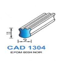 CAD1304N Profil EPDM   60 SH Noir