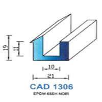 CAD1306N Profil EPDM   65 SH Noir