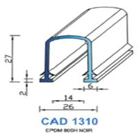 CAD1310N Profil EPDM   80 SH Noir