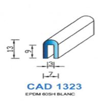 CAD1323B Profil EPDM   60 SH Blanc
