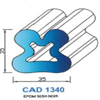 CAD1340N Profil EPDM   50 SH Noir