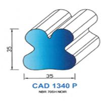 CAD1340P Profil NBR <br /> 70 SH Noir Plein<br />