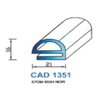 CAD1351N Profil EPDM <br /> 65 SH Noir<br />