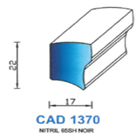 CAD1370B Profil NBR   65 SH Blanc