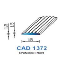 CAD1372N Profil EPDM   80 SH Noir