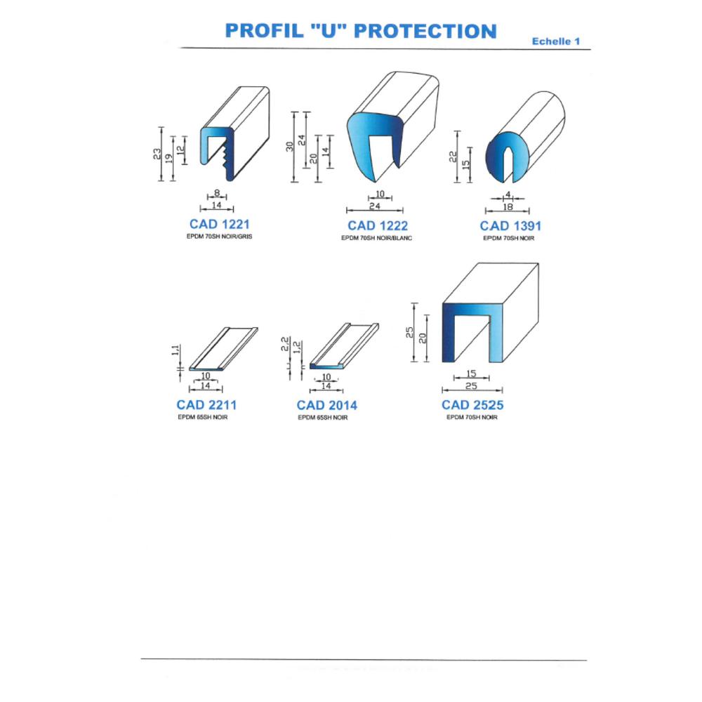 CAD 1391 B Joint EPDM   70 SH Blanc
