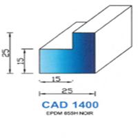 CAD1400N Profil EPDM   65 SH Noir