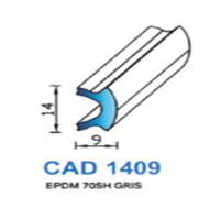 CAD1409G Profil EPDM   70 SH Gris