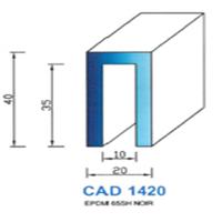 CAD1420N Profil EPDM   65 SH Noir