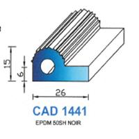 CAD1441N Profil EPDM   50 SH Noir