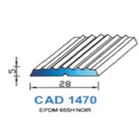 CAD1470N Profil EPDM   65 SH Noir