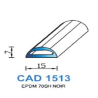 CAD1513N Profil EPDM   70 SH Noir