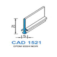 CAD1521N Profil EPDM   65 SH Noir