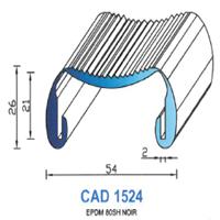 CAD1524N Profil EPDM   80 SH Noir