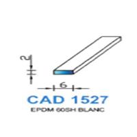 CAD1527B Profil EPDM   60 SH Blanc