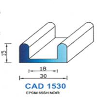 CAD1530N Profil EPDM <br /> 65 SH Noir<br />
