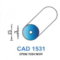 CAD1531N Profil EPDM   70 SH Noir