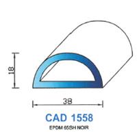 CAD1558N Profil EPDM   65 SH Noir
