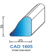 CAD1605N Profil EPDM   70 SH Noir