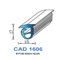 CAD1606N Profil EPDM   65 SH Noir