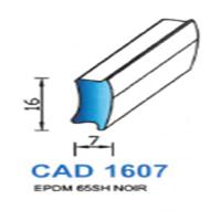 CAD1607N Profil EPDM   65 SH Noir