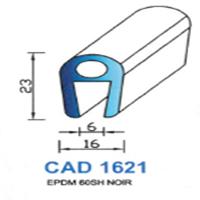 CAD1621N Profil EPDM   60 SH Noir