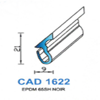CAD1622N Profil EPDM   65 SH Noir