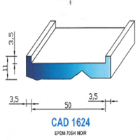 CAD1624N PROFIL EPDM - 70SH - NOIR