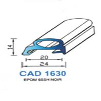 CAD1630N Profil EPDM   65 SH Noir