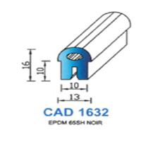 CAD1632N Profil EPDM   65 SH Noir