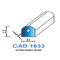 CAD1633N Profil EPDM   65 SH Noir