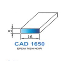 CAD1650N Profil EPDM   70 SH Noir