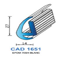CAD1651B Profil EPDM   70 SH Blanc