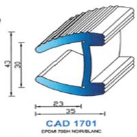 CAD1701N Profil EPDM   70 SH Blanc