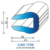 CAD1708N Profil EPDM   70 SH Noir