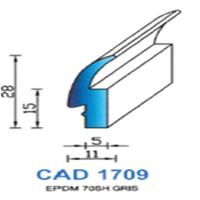 CAD1709G Profil EPDM   70 SH Gris