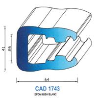 CAD1743B Profil EPDM   65 SH Blanc