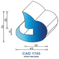 CAD1745N Profil EPDM   70 SH Noir