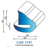 CAD1747B Profil EPDM   70 SH Blanc