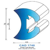 CAD1748B PROFIL EPDM - 70SH - BLANC