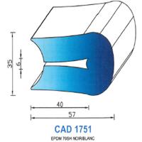 CAD1751N Profil EPDM   70 SH Noir