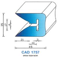 CAD1757N Profil EPDM   70 SH Noir