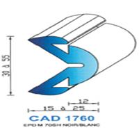 CAD1760B Profil EPDM   70 SH Blanc
