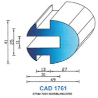 CAD1761G Profil EPDM   70 SH Gris