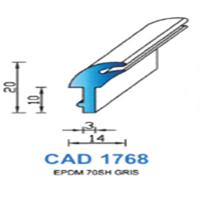 CAD1768G Profil EPDM   70 SH Gris