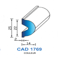 CAD1769G Profil EPDM   70 SH Gris