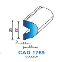 CAD1769N Profil EPDM   70 SH Noir   Vendu au Mètre