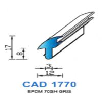 CAD1770G Profil EPDM   70 SH Gris