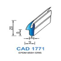 CAD1771G Profil EPDM   65 SH Gris